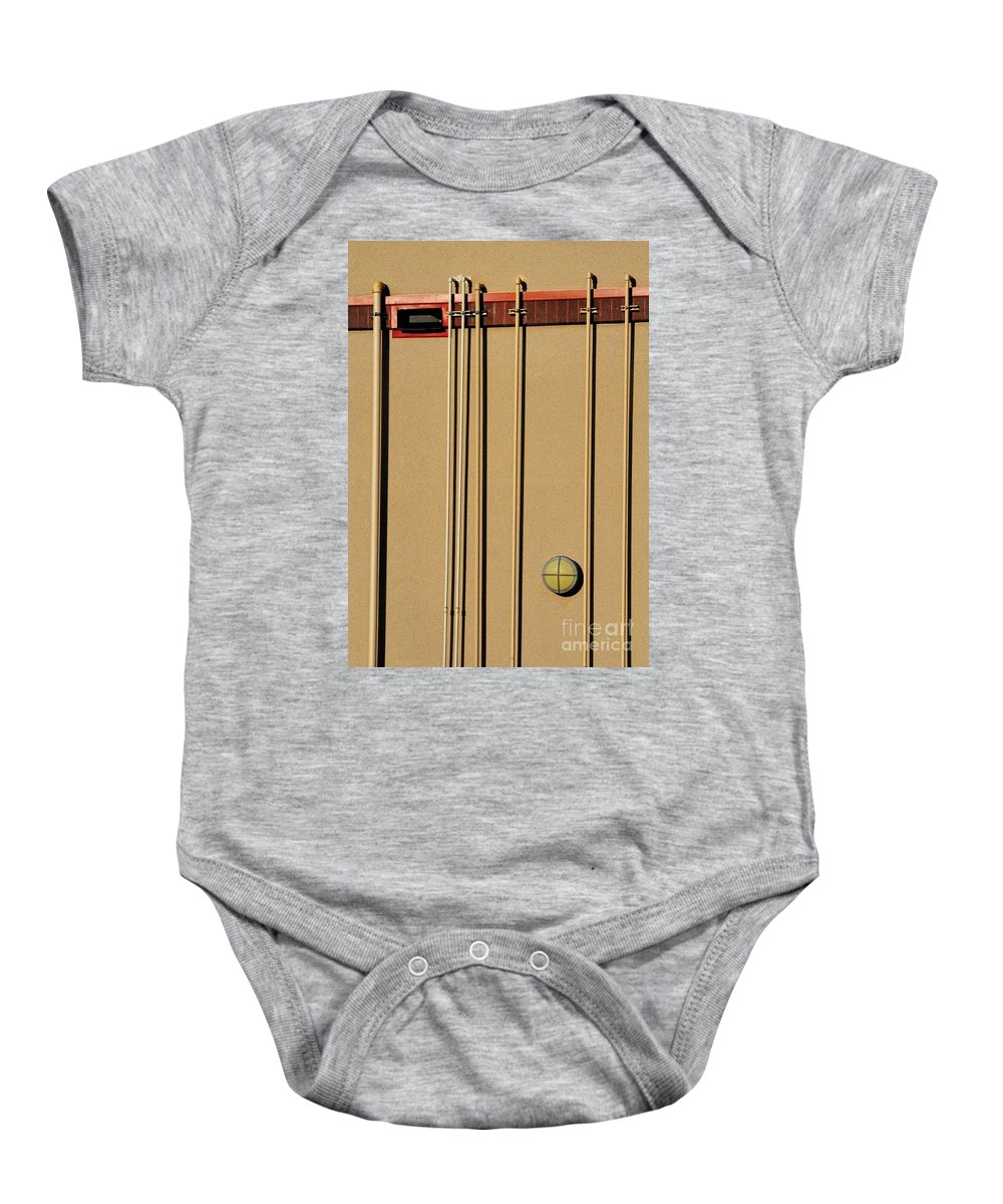 Pipes Baby Onesie featuring the photograph Pipes by Merrimon Crawford