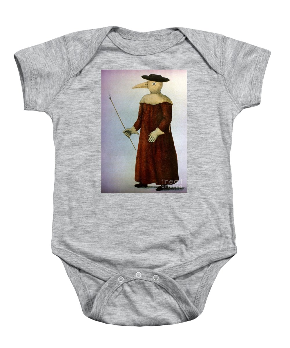1720 Baby Onesie featuring the photograph Plague Costume by Granger