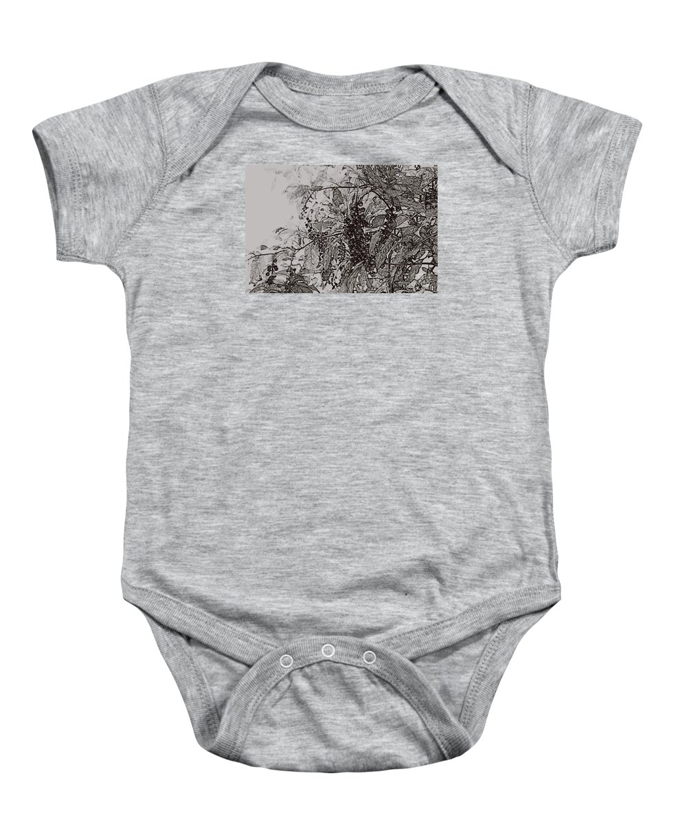 Pokeweed Baby Onesie featuring the photograph Pokeweed by Linda Shafer