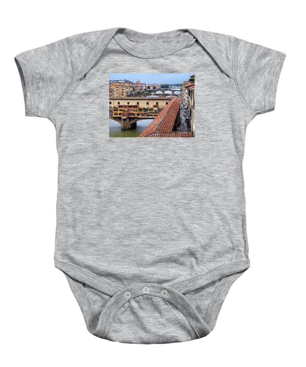 Ponte Baby Onesie featuring the photograph Ponte Vecchio From Uffizi        by Jennie Breeze