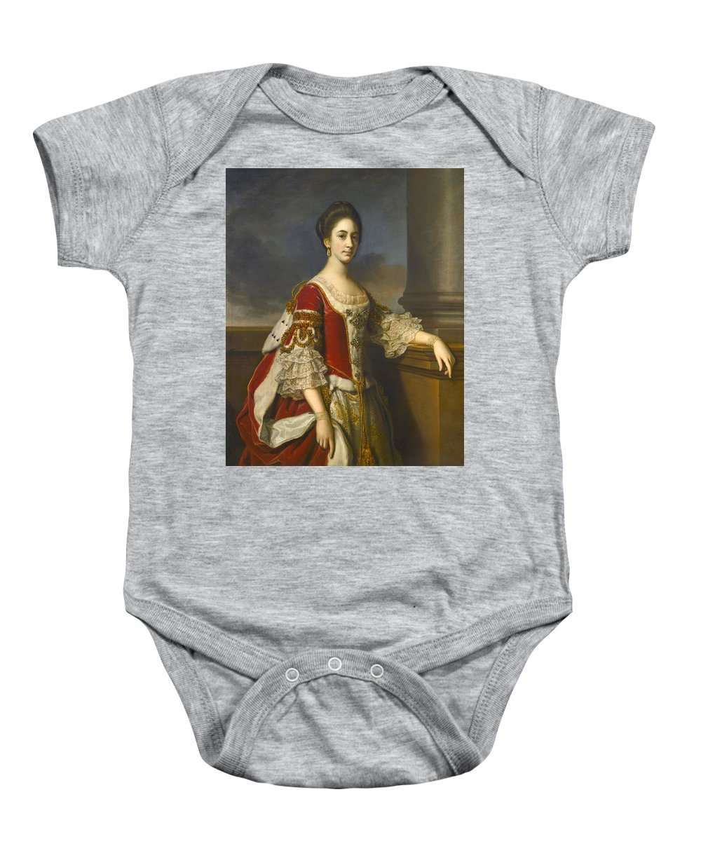 Nathaniel Dance Baby Onesie featuring the painting Portrait Of Lady Elizabeth Compton Later Countess Of Burlington by Nathaniel Dance
