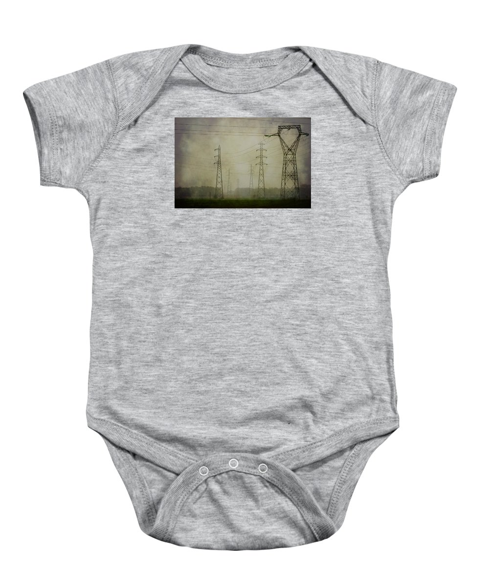 Clare Bambers Baby Onesie featuring the photograph Power 5. by Clare Bambers