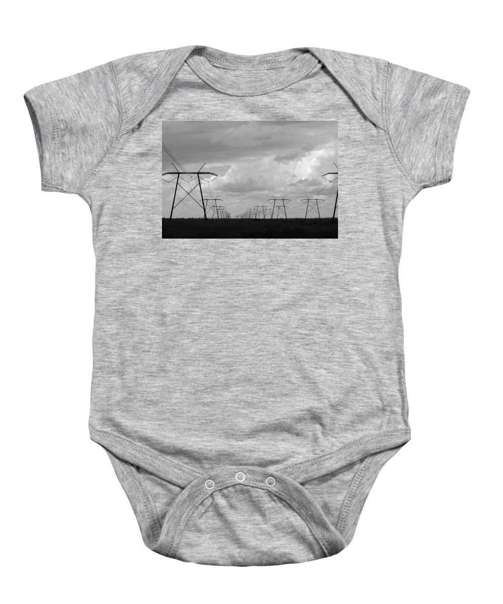 Sky Baby Onesie featuring the photograph Power In The Sky by Rob Hans