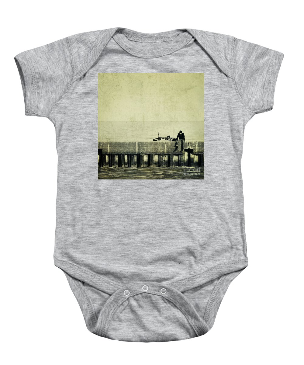 Man Baby Onesie featuring the photograph Praying To A God I Dont Believe In by Dana DiPasquale