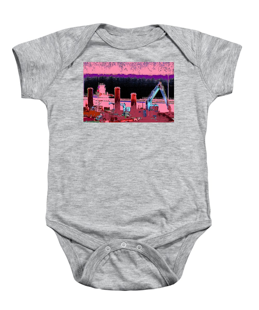 Abstract Baby Onesie featuring the photograph Pretty In Pink by Rachel Christine Nowicki