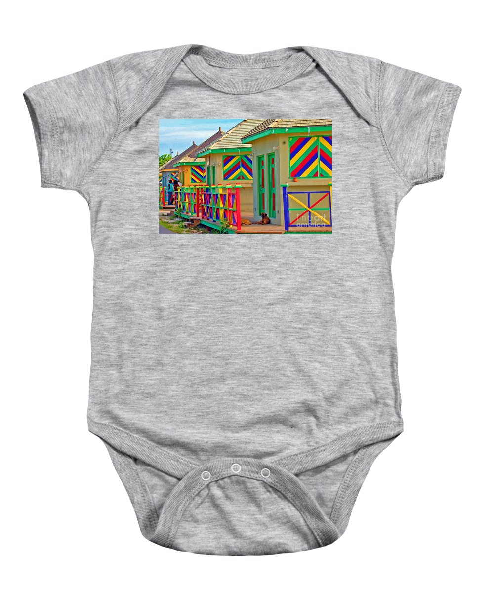 Vivid Baby Onesie featuring the photograph Primary Colors by Debbi Granruth