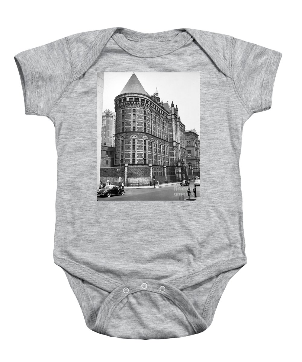 1941 Baby Onesie featuring the photograph Prison: The Tombs, 1941 by Granger