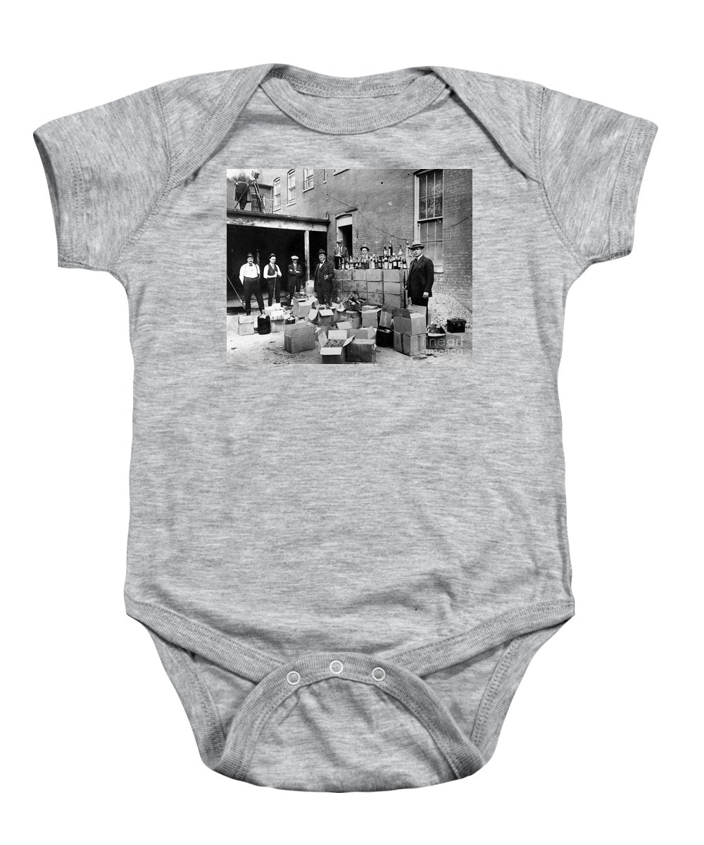 18th Amendment Baby Onesie featuring the photograph Prohibition, 1922 by Granger
