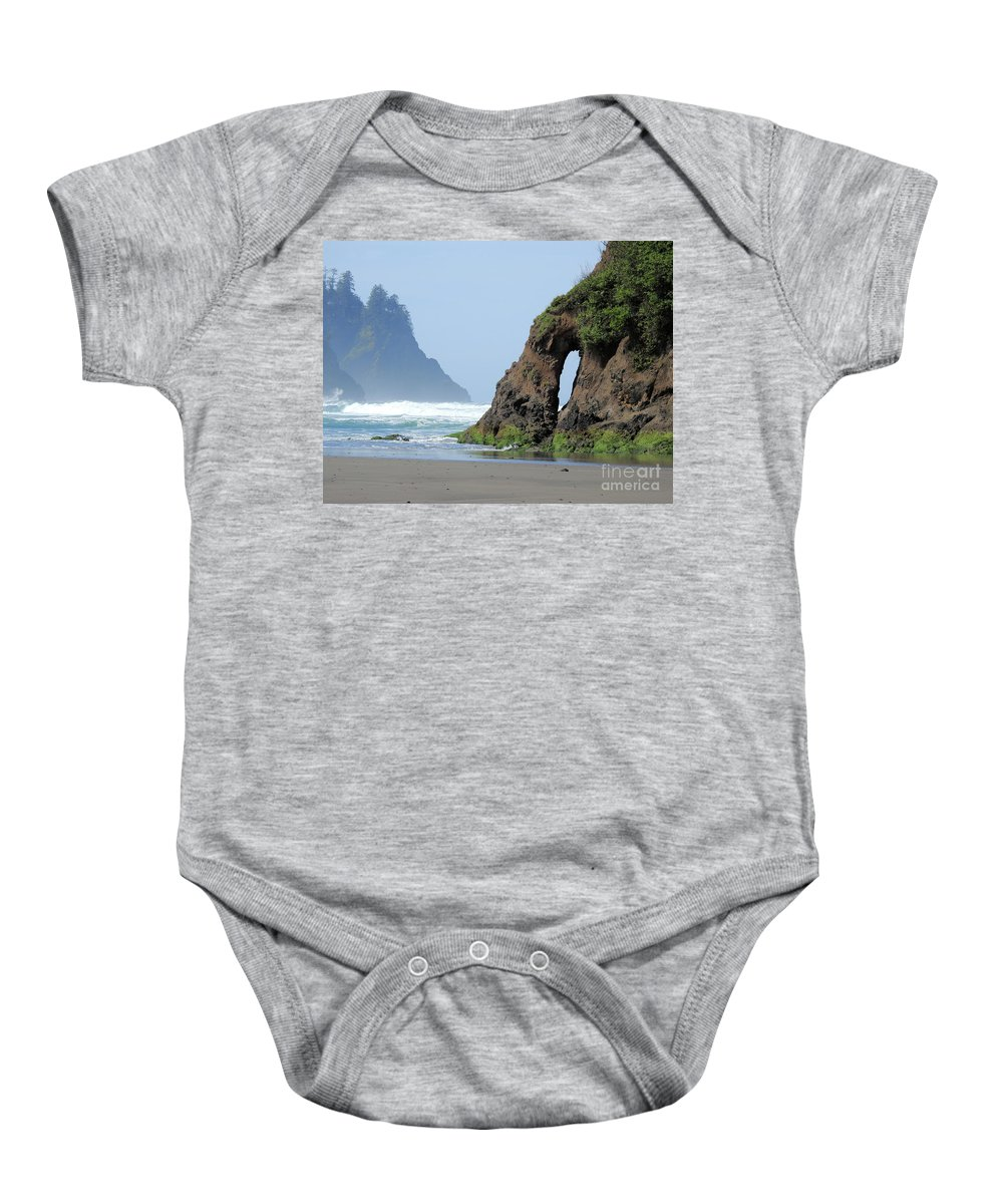 Proposal Rock Baby Onesie featuring the photograph Proposal Rock - Keyhole by Scott Cameron