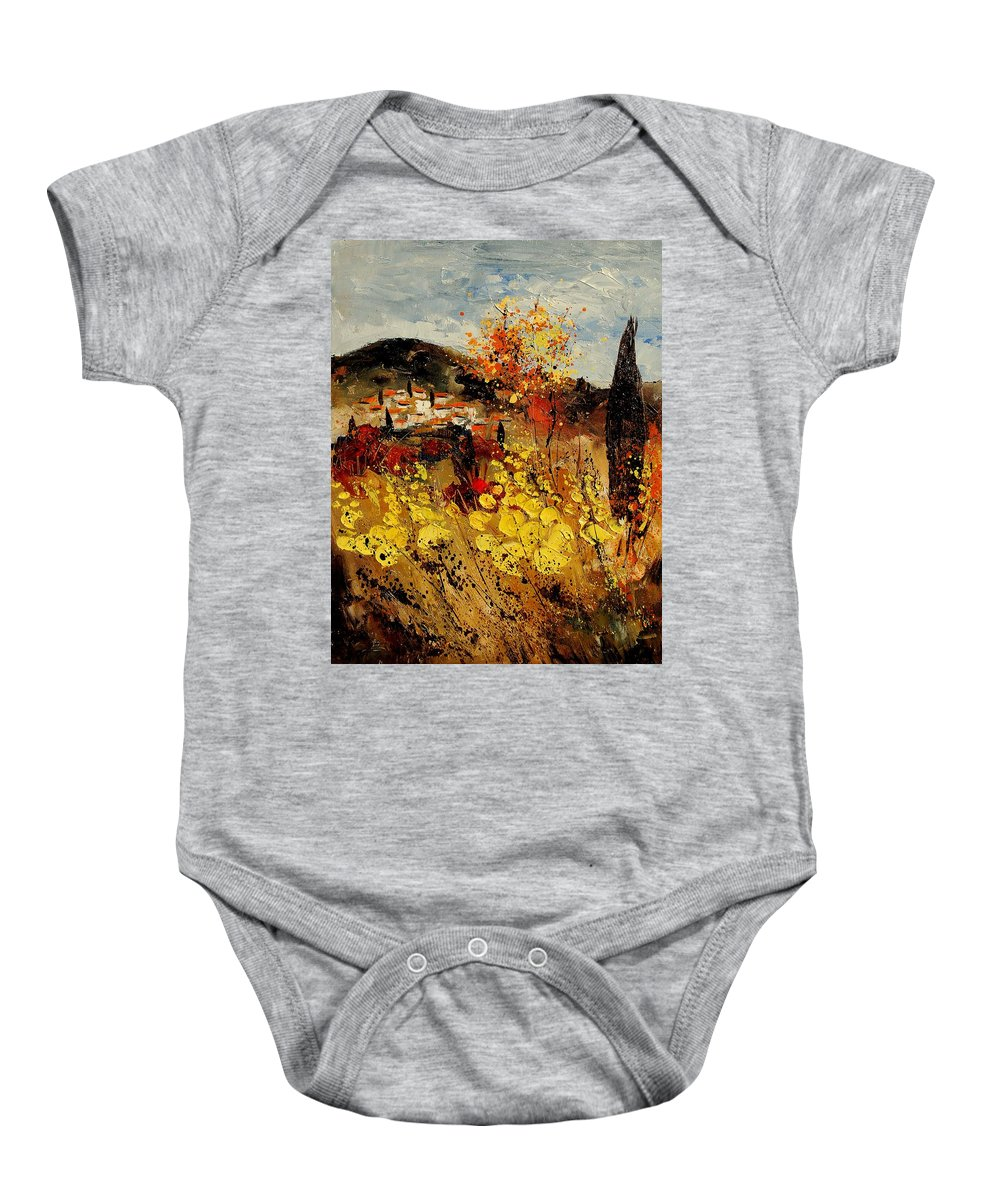 Provence Baby Onesie featuring the painting Provence 459080 by Pol Ledent
