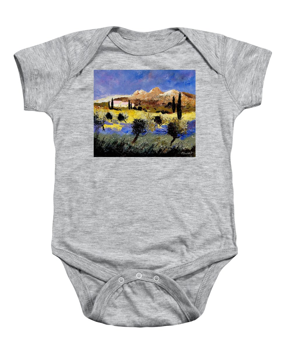 Provence Baby Onesie featuring the painting Provence 674525 by Pol Ledent