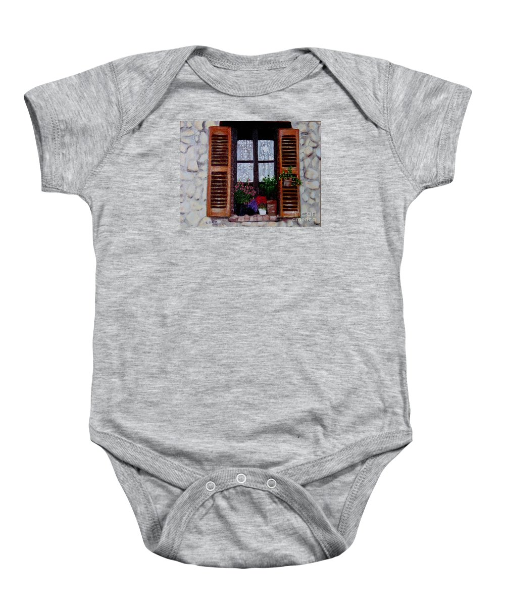 Provence Baby Onesie featuring the painting Provence Morning by Laurie Morgan