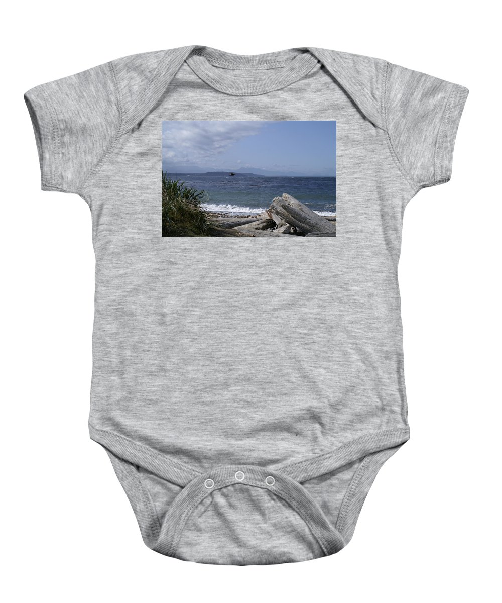 Puget Baby Onesie featuring the photograph Puget Sound by Henri Irizarri