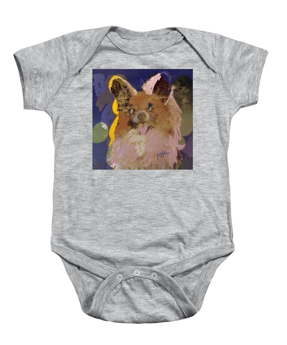 Dog Baby Onesie featuring the digital art Puppy by Mary Jo Hopton