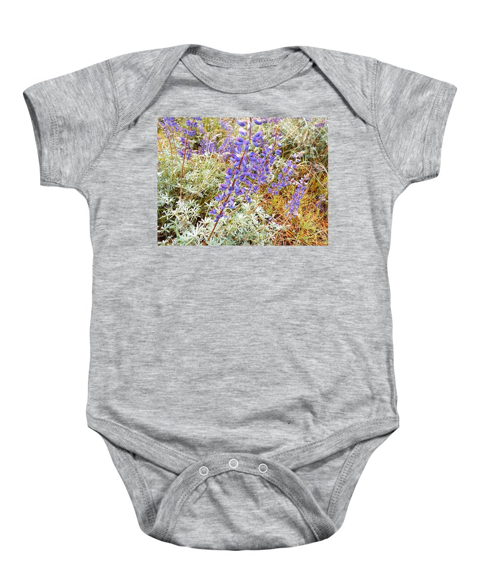 Purple Flower  Wildflower Baby Onesie featuring the photograph Pure Wild Purple by Elton Eveningred
