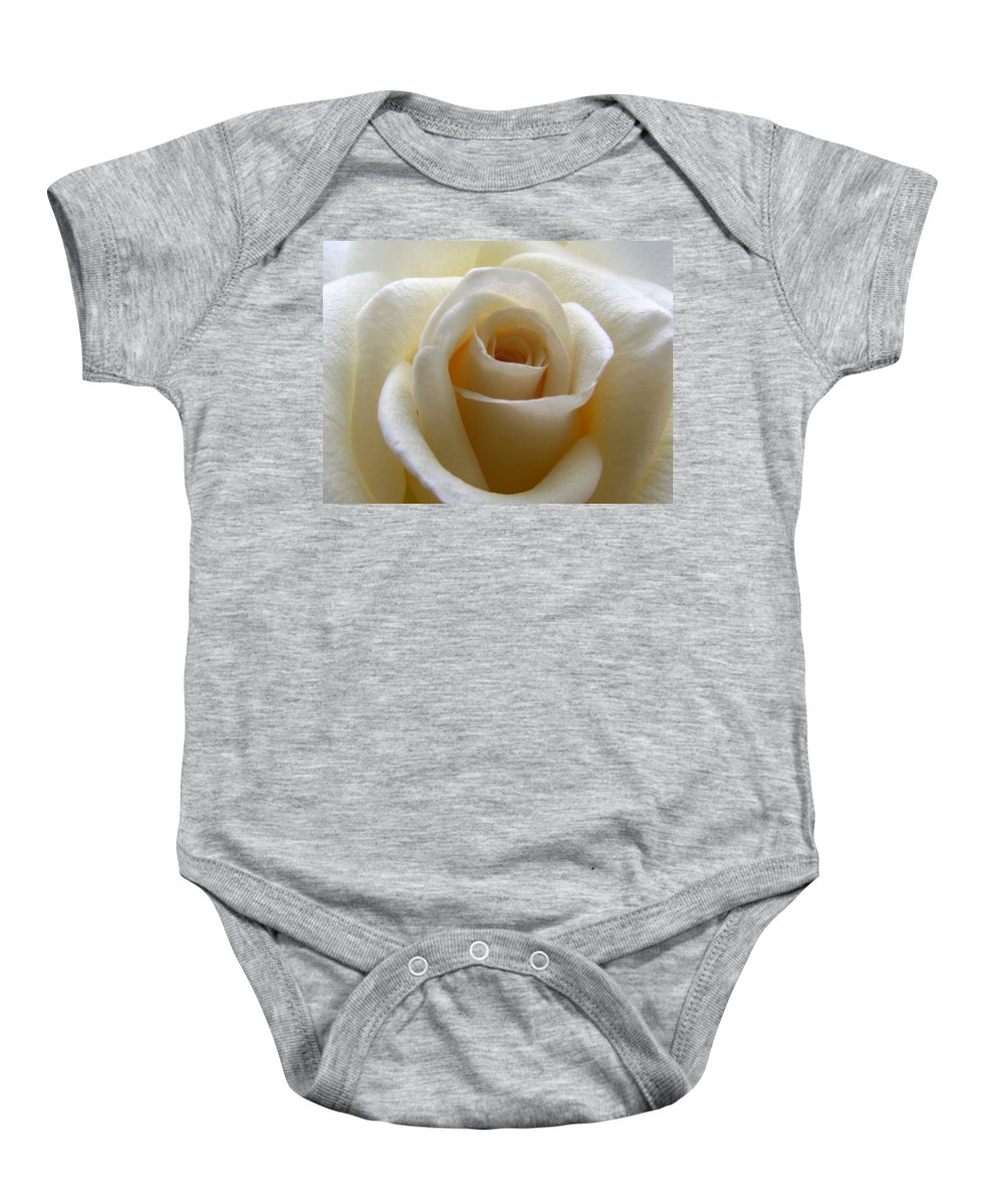 Rose Baby Onesie featuring the photograph Purity by Amy Fose
