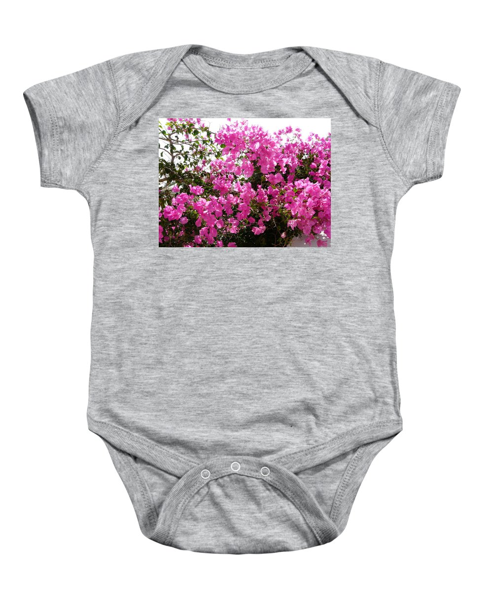 Flower Baby Onesie featuring the photograph Purple Abundance by Valerie Ornstein