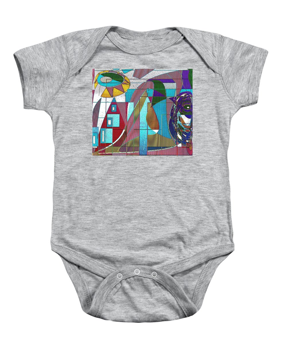 Purple Baby Onesie featuring the digital art Purple And Blue by Ian MacDonald