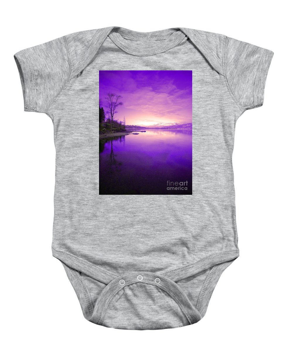Tree Baby Onesie featuring the photograph Purple Skies by Tara Turner