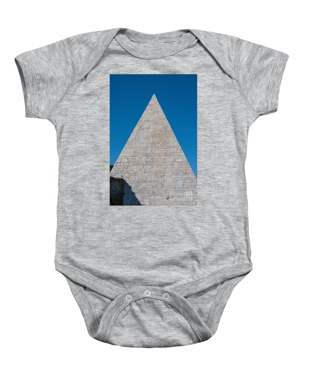 Aurelian Walls Baby Onesie featuring the photograph Pyramid Of Caius Cestius by Joseph Yarbrough