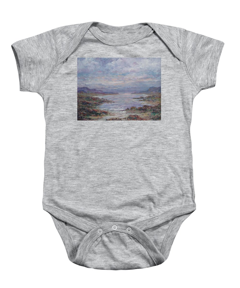 Painting Baby Onesie featuring the painting Quiet Bay. by Leonard Holland