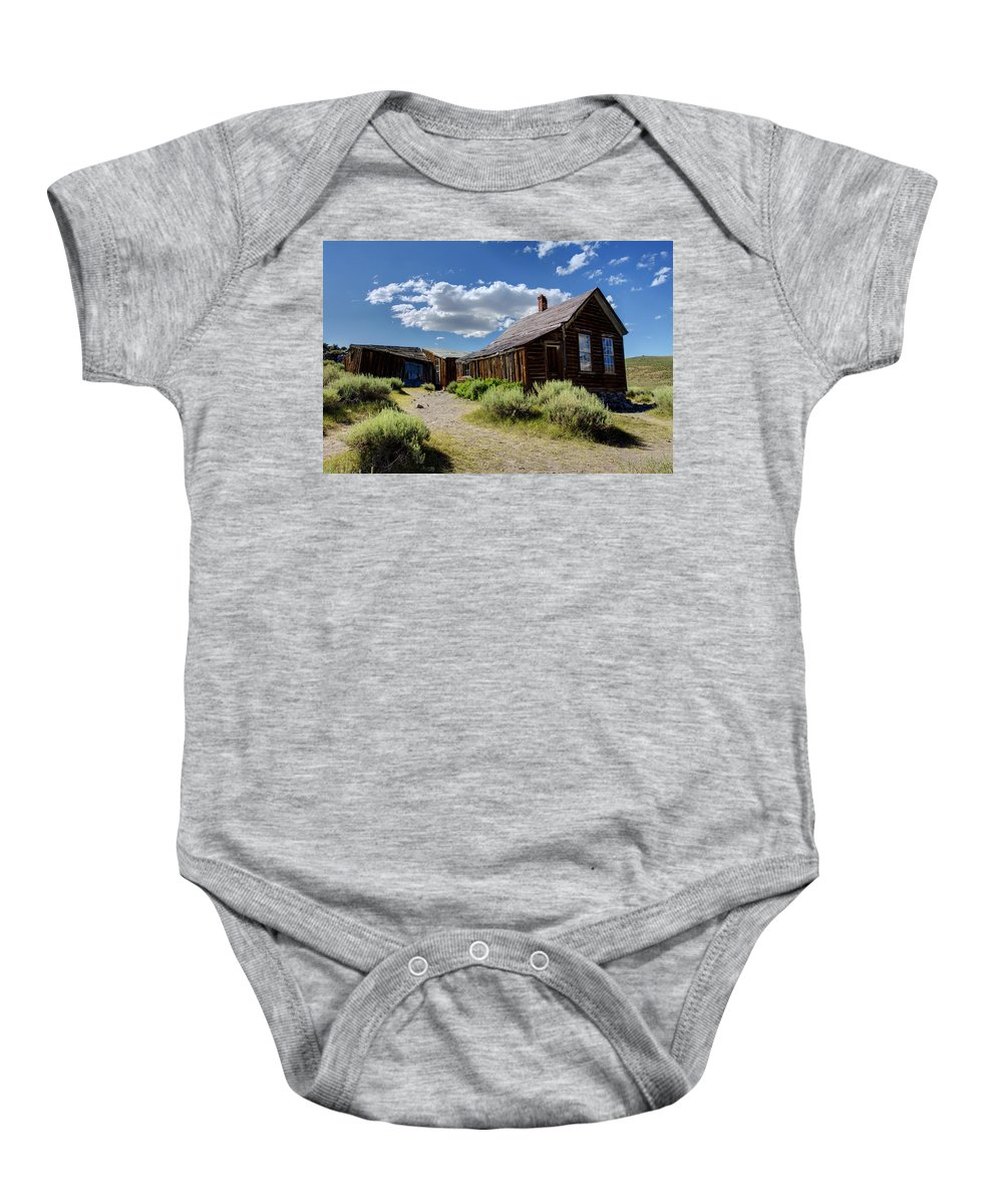 Bodie Baby Onesie featuring the photograph Quiet Neighborhood by Ricky Barnard