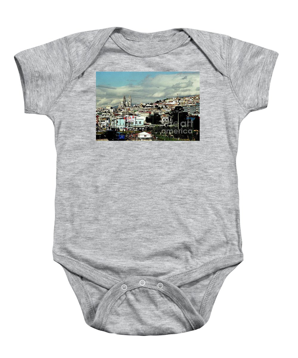 Ecuador Baby Onesie featuring the photograph Quito by Kathy McClure