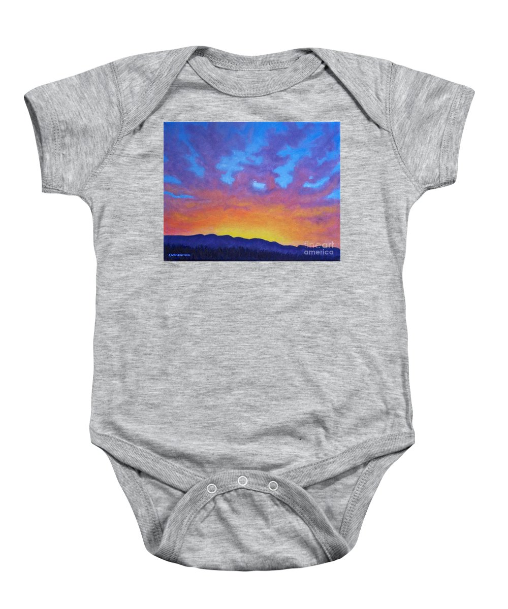 Landscape Baby Onesie featuring the painting Radiance by Brian Commerford