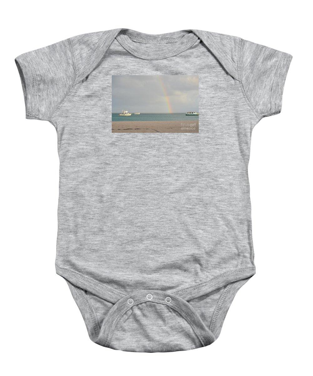Rainbow Baby Onesie featuring the photograph Rainbow In Aruba by DejaVu Designs