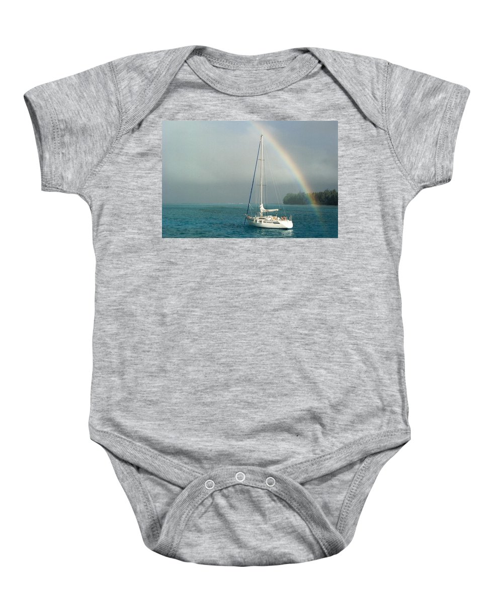 Charity Baby Onesie featuring the photograph Rainbow by Mary-Lee Sanders