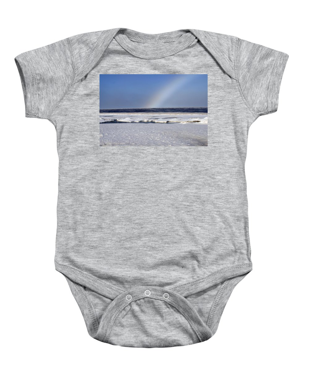 Rainbow Baby Onesie featuring the photograph Rainbow Over The Arctic by Anthony Jones