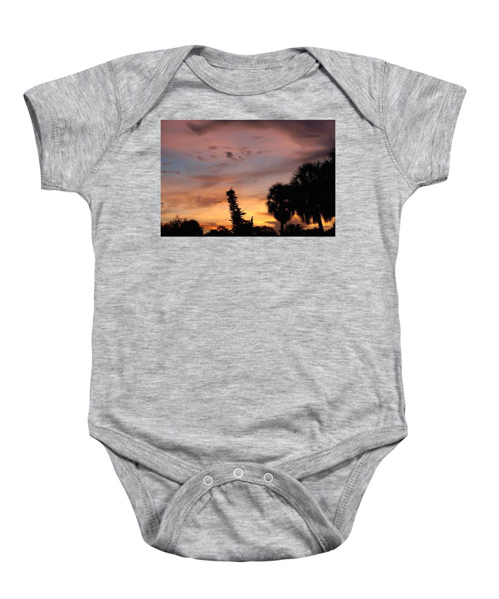Sunset Baby Onesie featuring the photograph Rainbow Sunset by Rob Hans