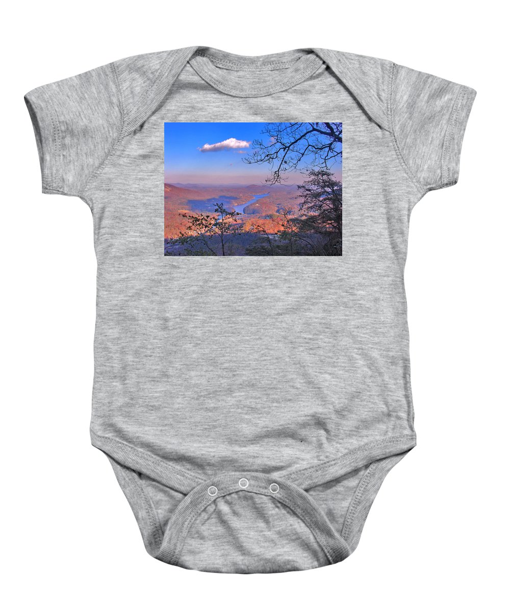 Landscape Baby Onesie featuring the photograph Reaching For A Cloud by Steve Karol