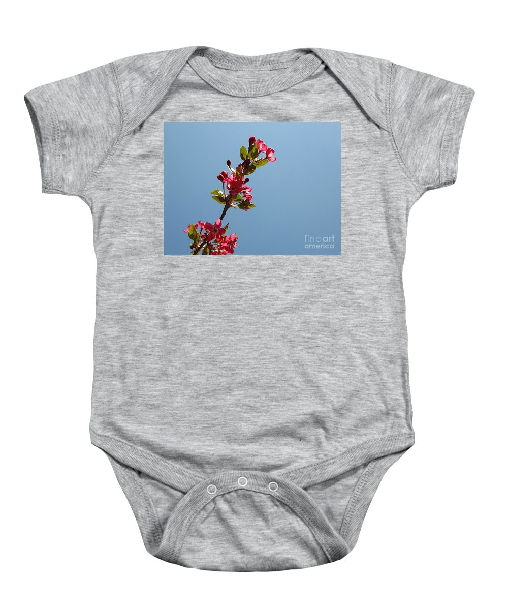 Flowers Baby Onesie featuring the photograph Reaching For The Sun by Lisa Knauff