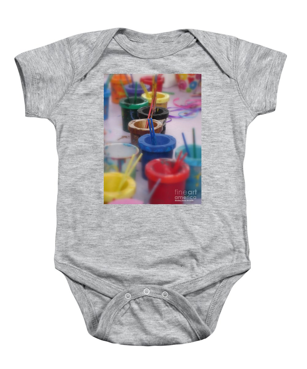 Painting Baby Onesie featuring the photograph Ready  Set  Paint by Shelley Jones