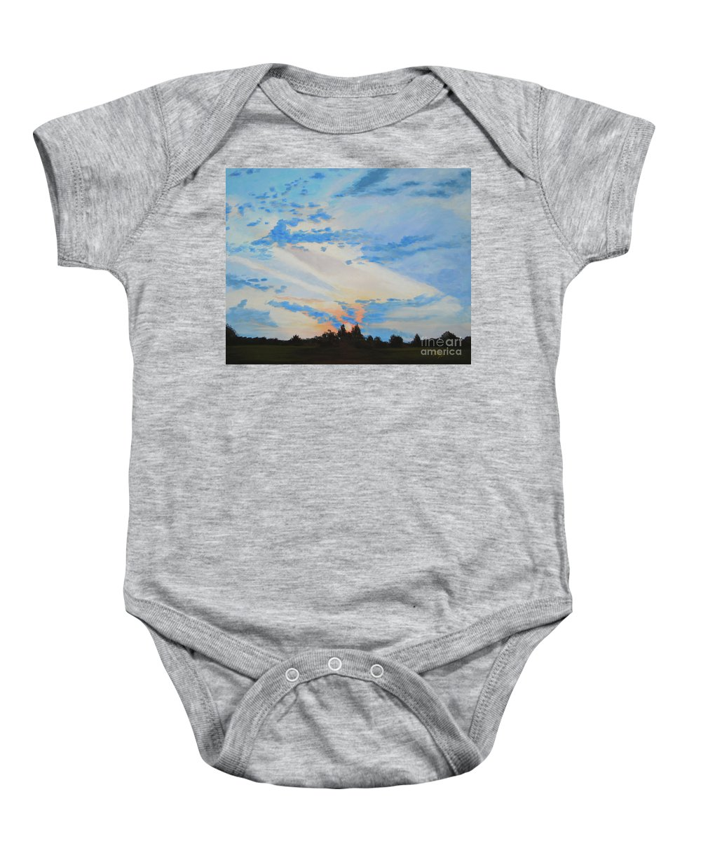 Landscape Baby Onesie featuring the painting Reality by Tonya Henderson