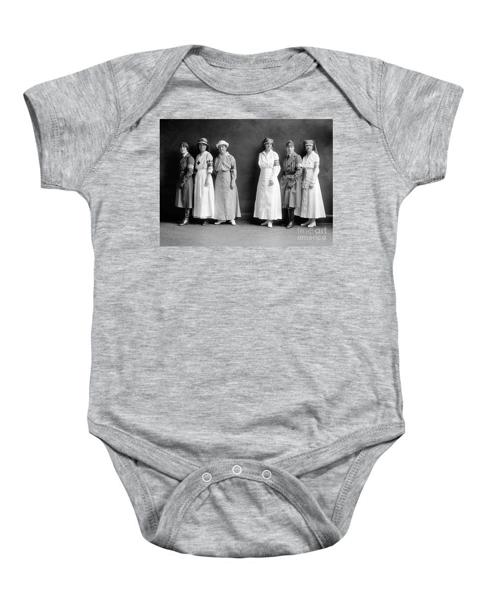 1920 Baby Onesie featuring the photograph Red Cross Corps, C1920 by Granger