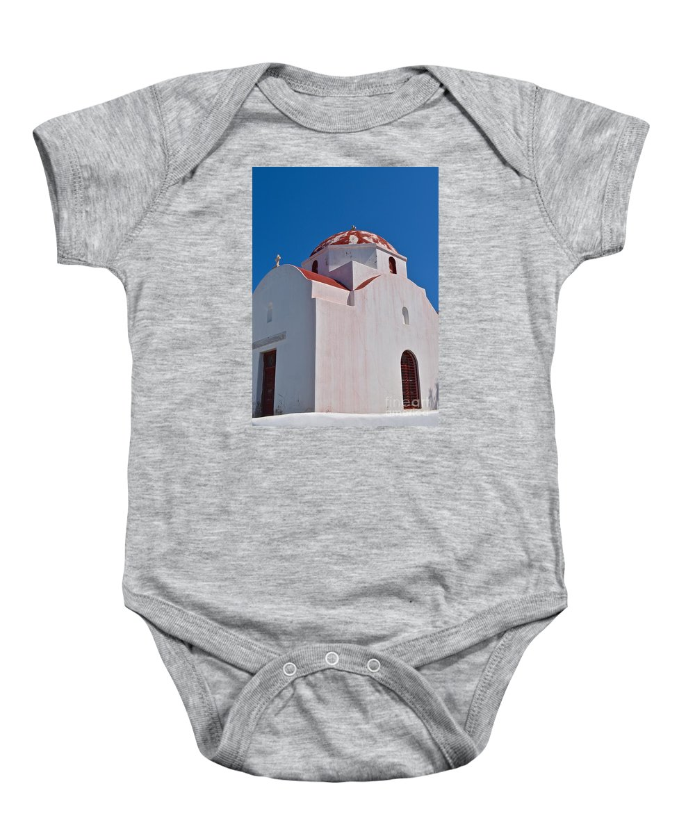 Architecture Baby Onesie featuring the photograph Red Domed Church by Eric Reger