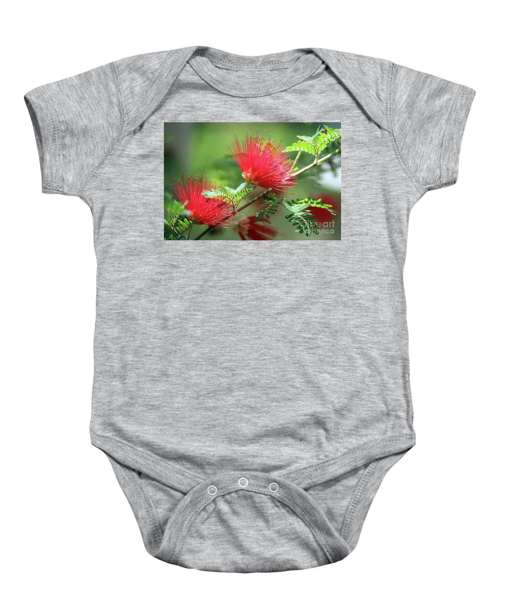Flower Baby Onesie featuring the photograph Red Explosion by Douglas Milligan