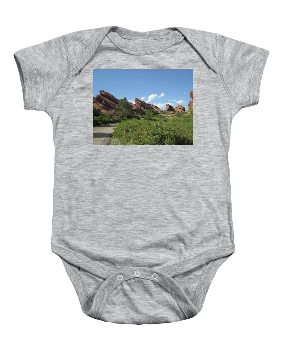 Baby Onesie featuring the photograph Red Rock Park by Rocky Washington