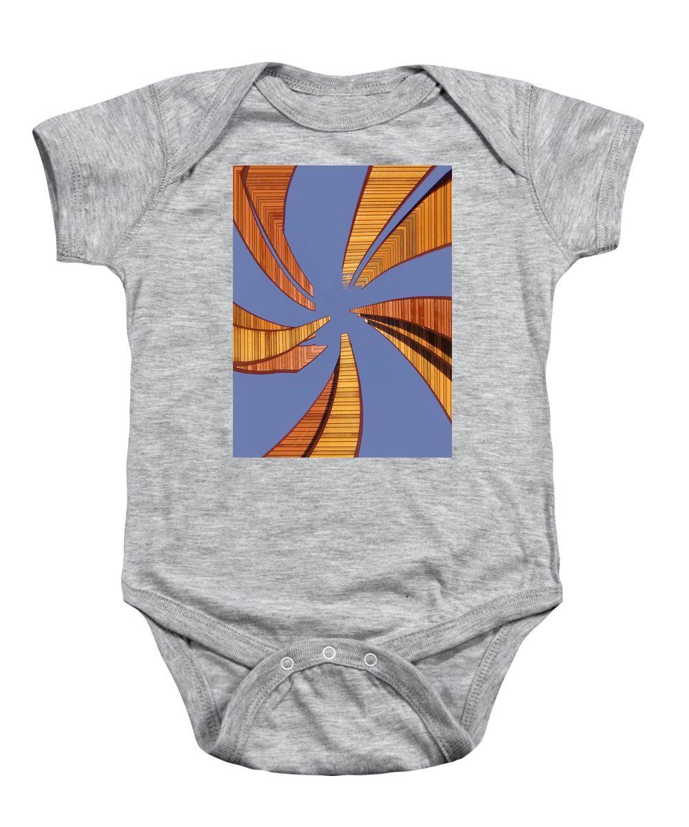 Seattle Baby Onesie featuring the digital art Reeds 2 by Tim Allen
