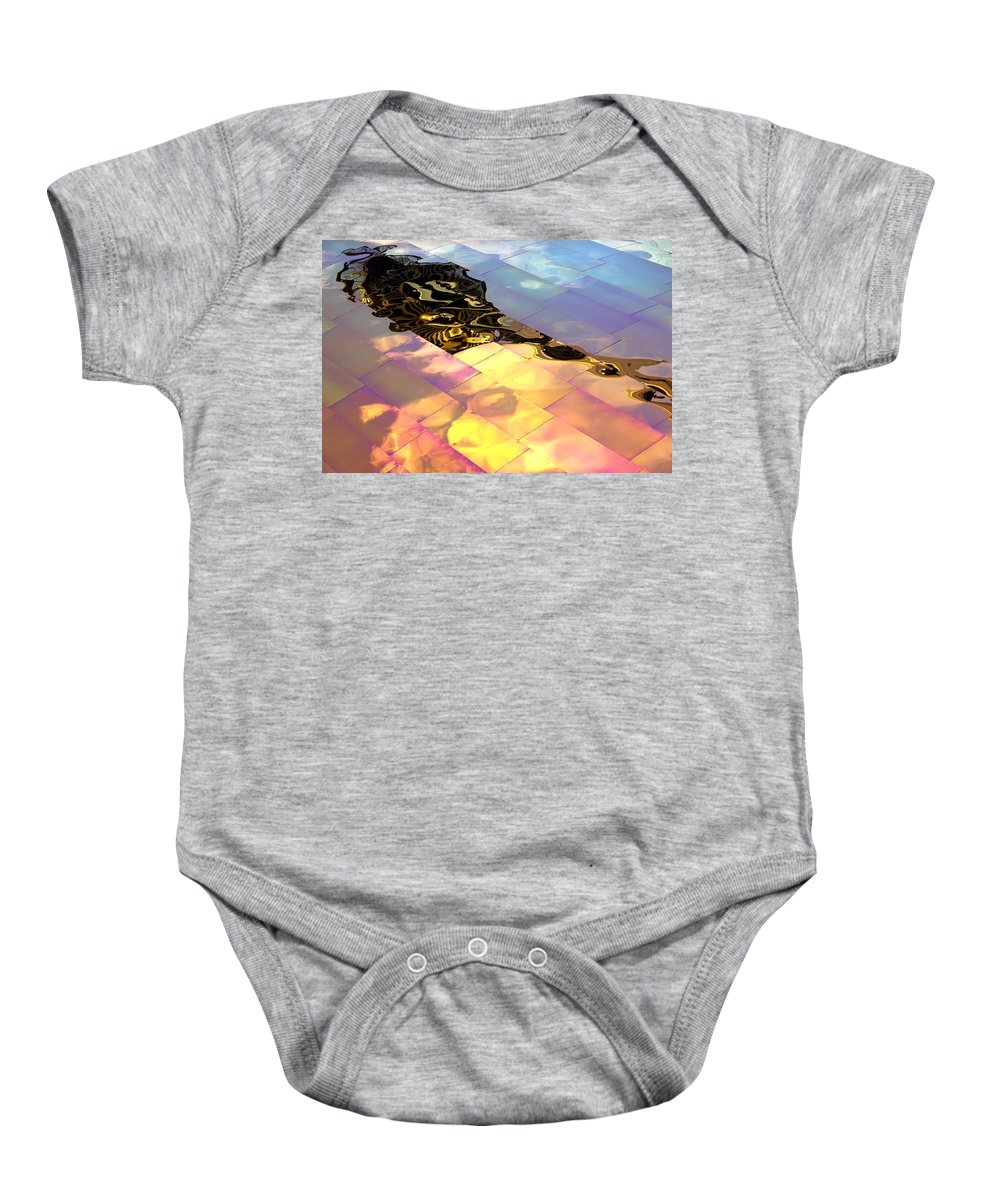 Emp Baby Onesie featuring the photograph Reflecting Back by Janet Fikar