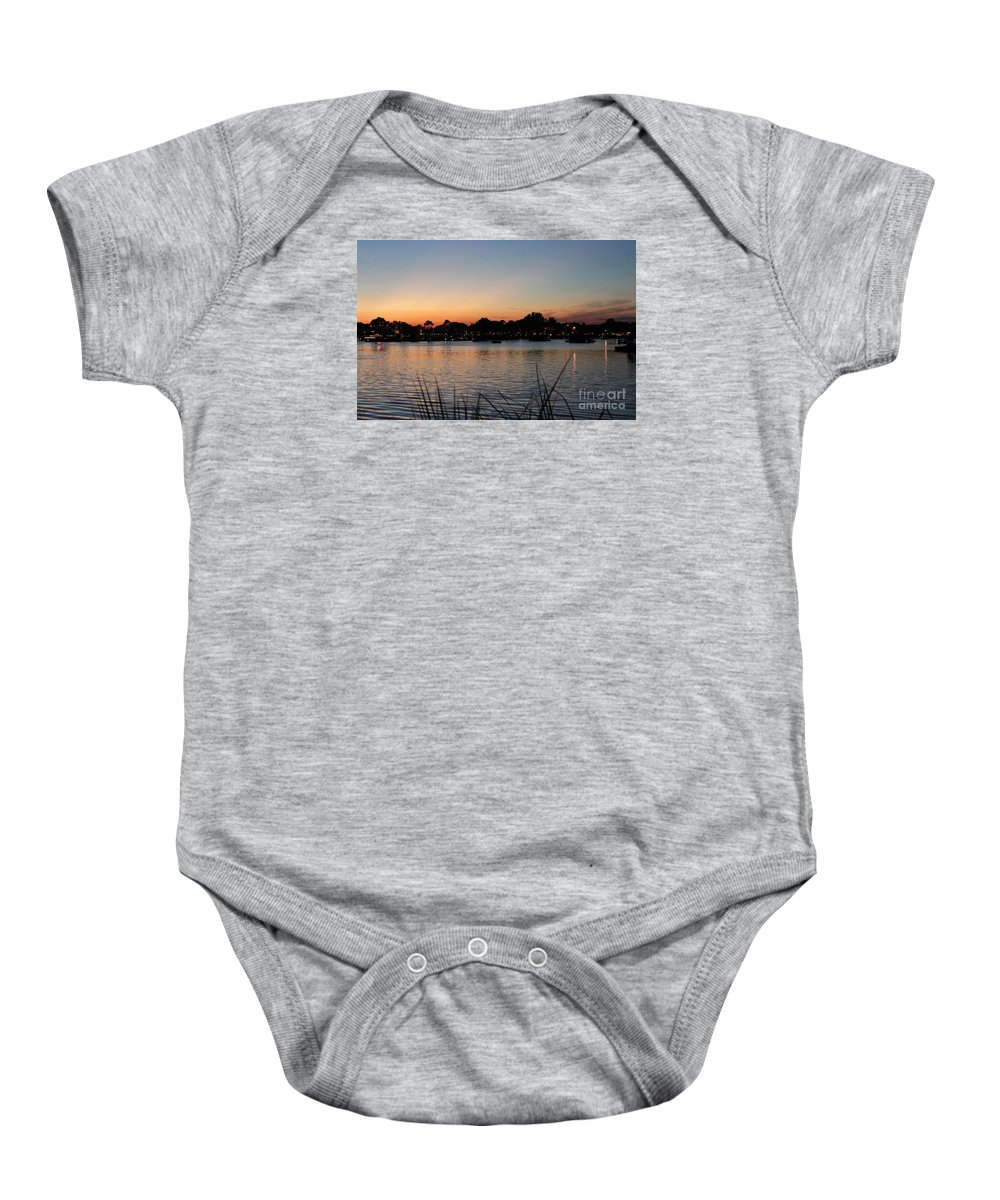 Epcot Baby Onesie featuring the photograph Reflection Lagoon by Mesa Teresita