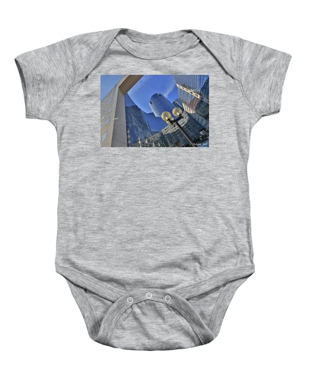 Reflections Baby Onesie featuring the photograph Reflections Of The Future by Roland Hall