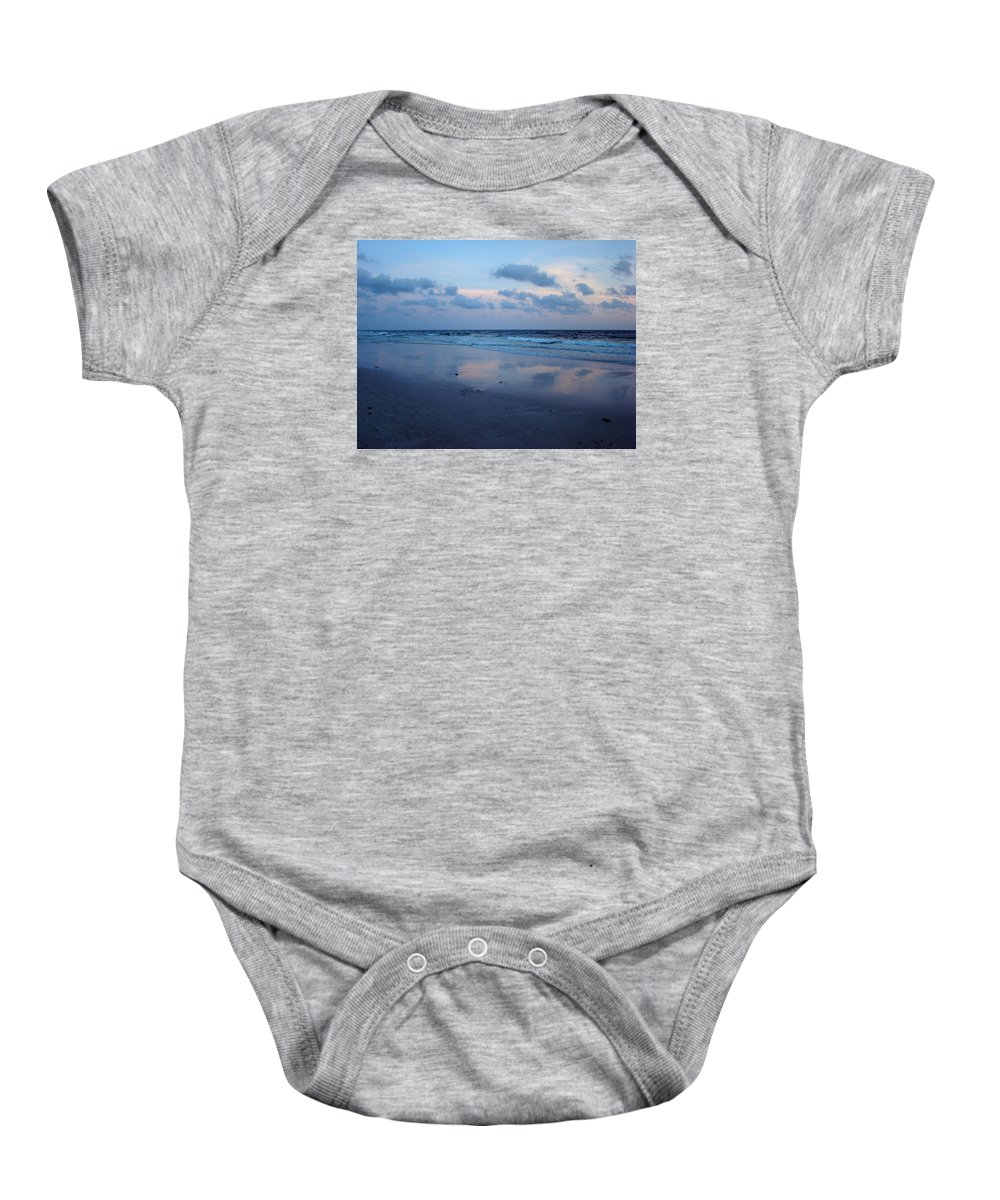 Panama City Beach Baby Onesie featuring the photograph Reflections by Sandy Keeton