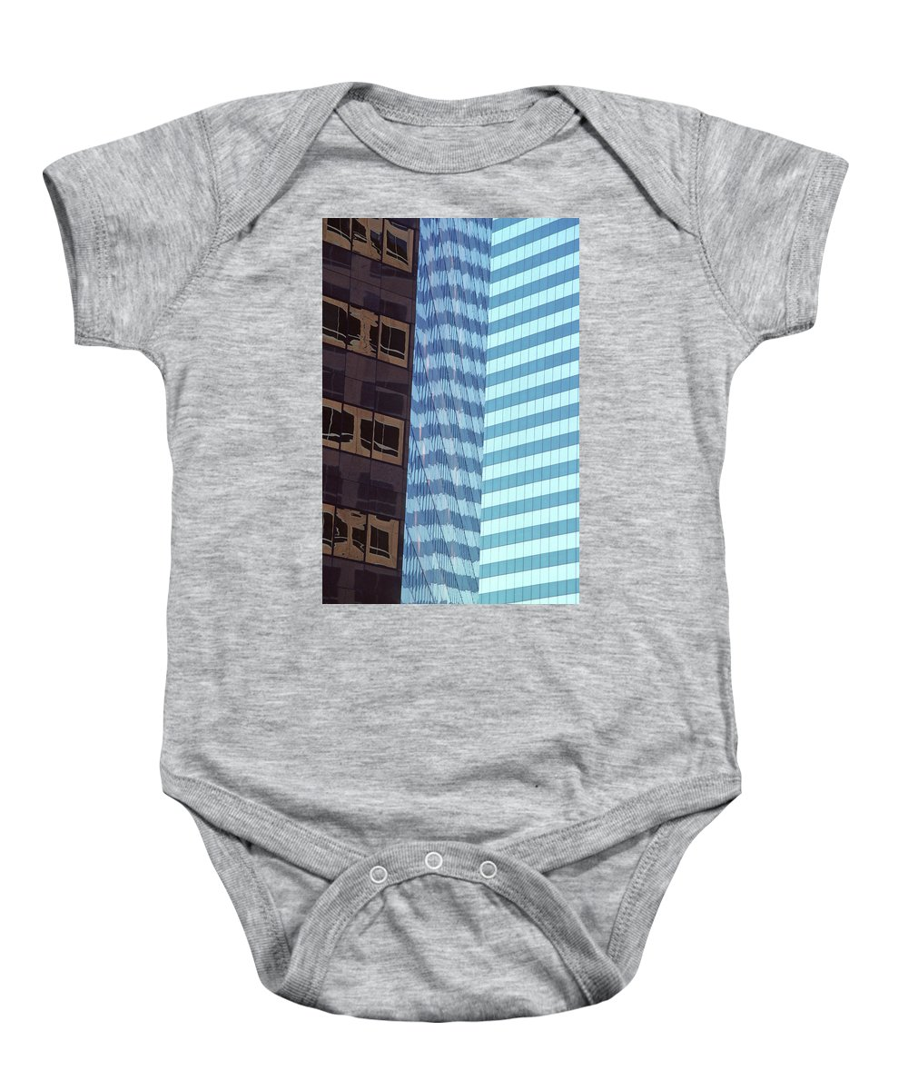 Abstract Baby Onesie featuring the photograph Reflections by Steve Williams