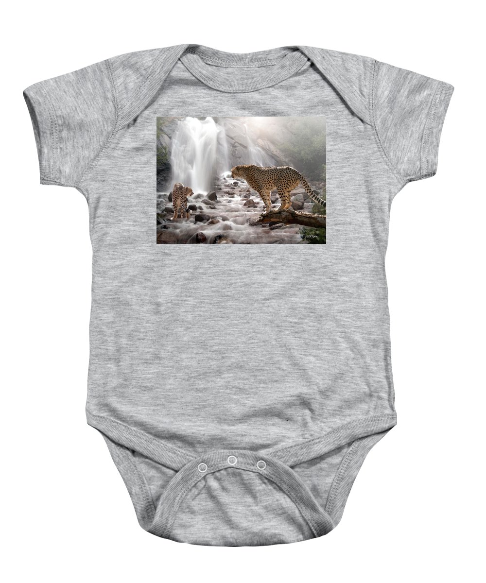 Wildlife Baby Onesie featuring the digital art Refreshed by Bill Stephens