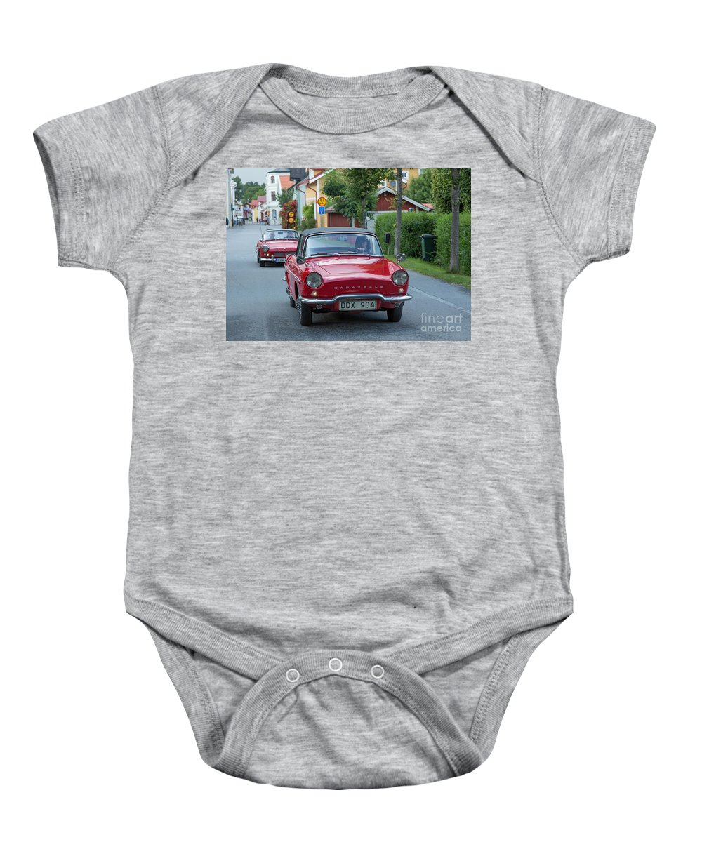 Renault Caravelle Baby Onesie featuring the photograph Renault Caravelle by Allan Wallberg