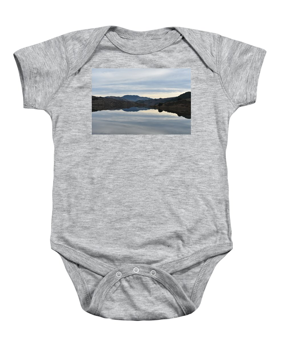 Water Baby Onesie featuring the photograph Reservoir Reflection by D Patrick Miller