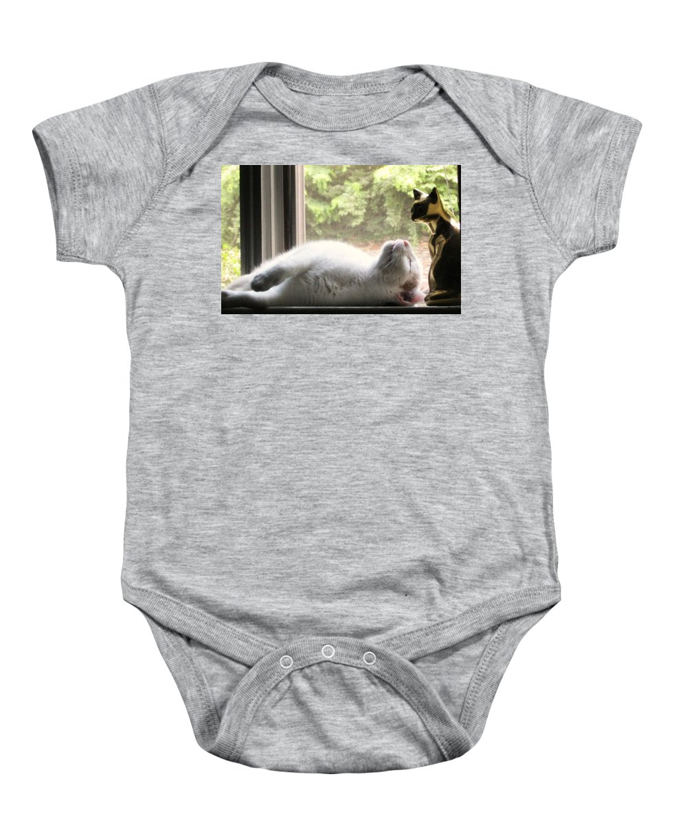 Cat Baby Onesie featuring the photograph Rest In Peace by Cara Imperato